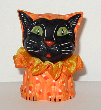 Halloween Cat handcrafted from an antique chocolate mold