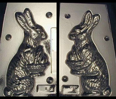 Rabbit with Victorian Basket Chocolate Mold 137
