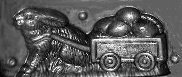 Rabbit cart chocolate mold