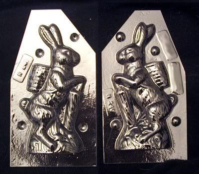 Rabbit with Umbrella chocolate mold