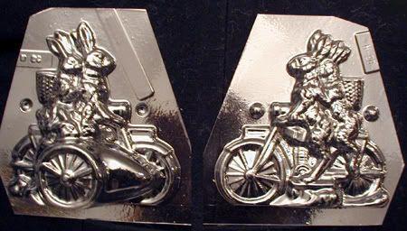 Rabbit Family on Motorcycle Anton Reiche chocolate mold;