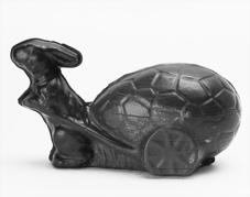 Rabbit Chocolate Mold with Egg Cart  BORDER=
