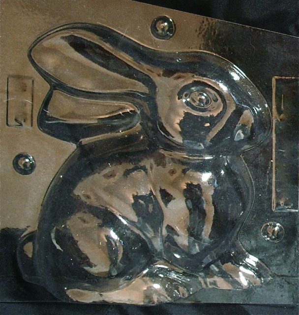 chocolate mold bunny with cart