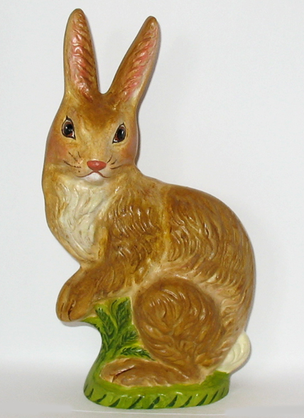 Bittersweet House Folk Art chalkware rabbit from an antique chocolate mold
