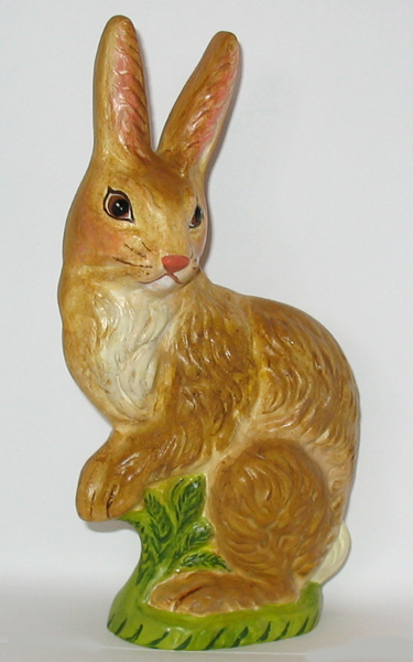 Chalkware Rabbit from antique Rabbit chocolate mold