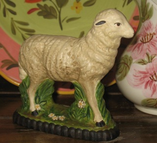 sheep from antique chocolate mold