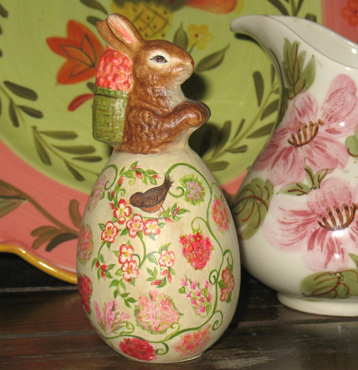 Bittersweet House Chalkware rabbit from antique chocolate mold