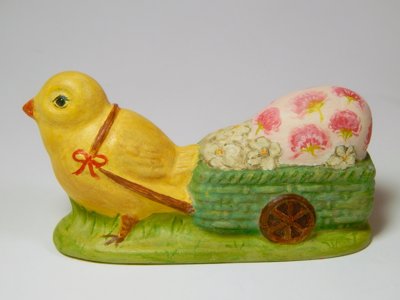 Bittersweet House Chalkware chick from antique chocolate mold