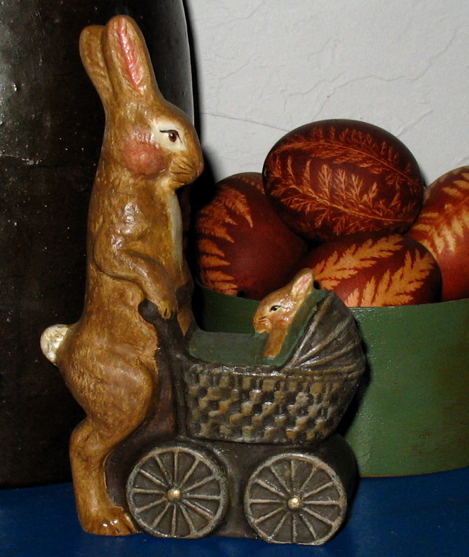 Bittersweet House Chalkware Rabbit from an antique Chocolate mold