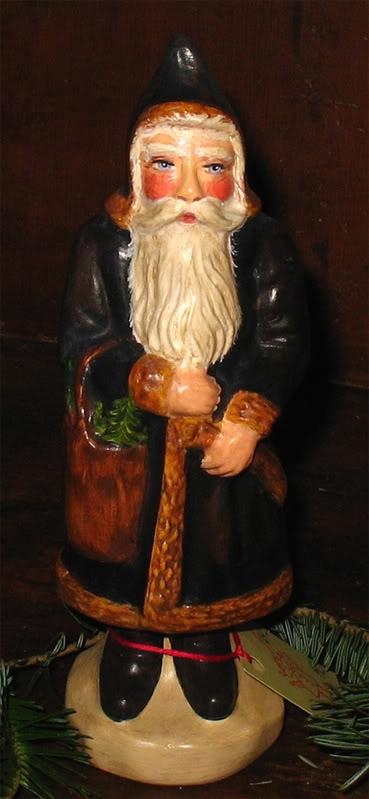 Bittersweet House  Chalkware Santa