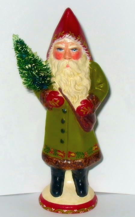 German chocolate mold Santa