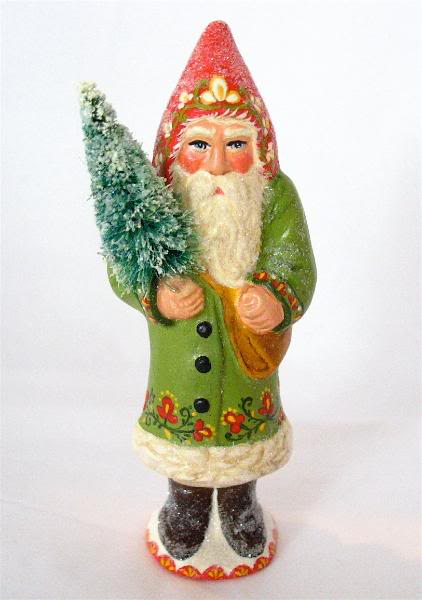 Bittersweet House Folk Art  Santa