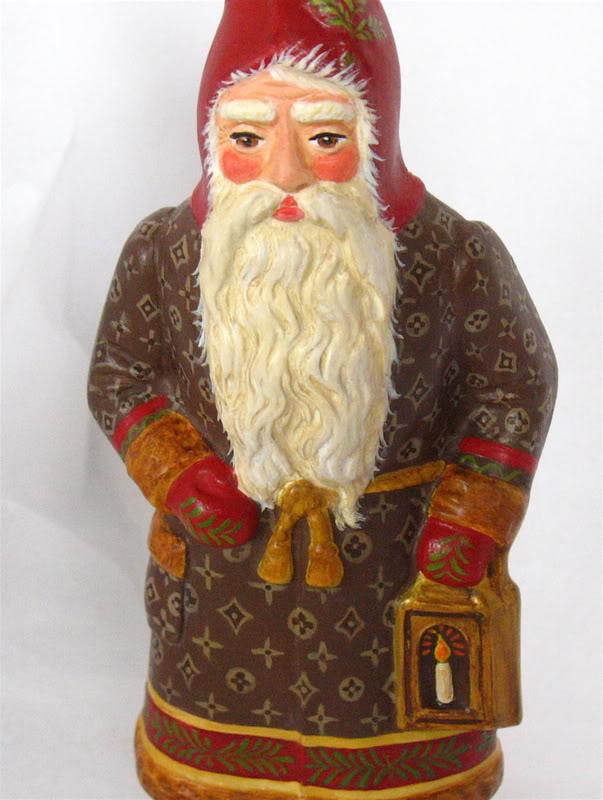 German Santa with Tree