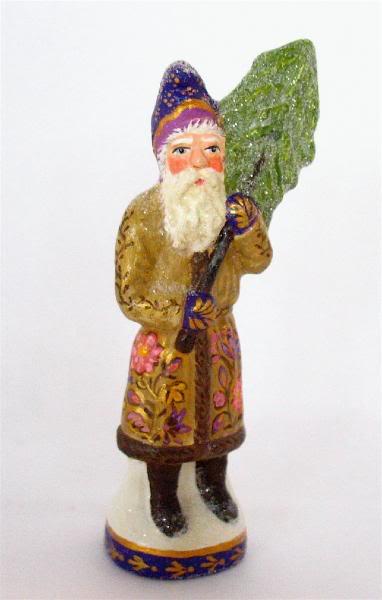 German chocolate mold Santa with Tree