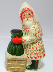 Chalkware Santa from an antique chocolate mold