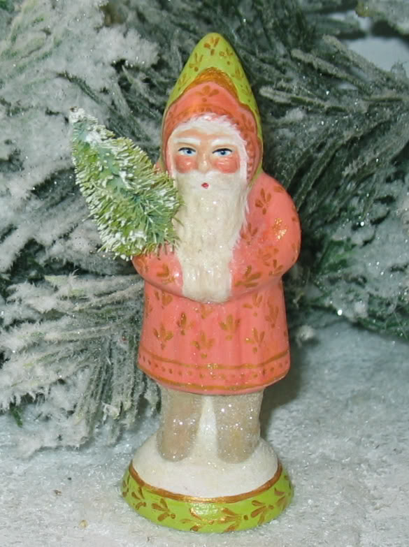German Santa with Tree