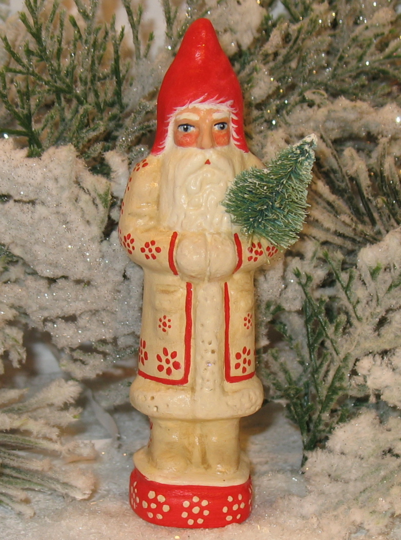 German Chalkware Santa Belsnickle