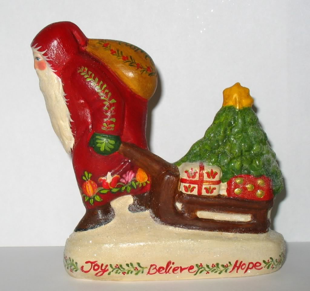 German Chalkware Santa