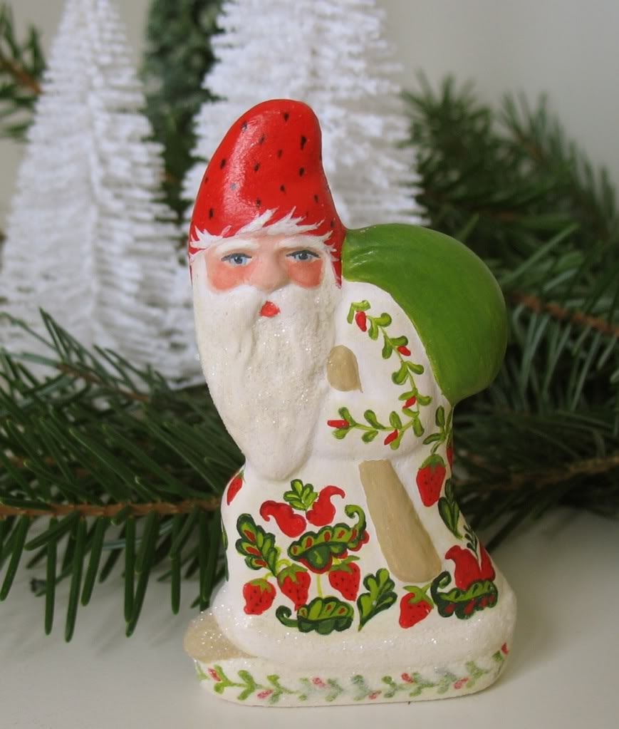Bittersweet House Folk Art Santa