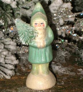 Bittersweet House  Chalkware German Santa