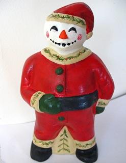 Bittersweet House Folk Art  Snowman