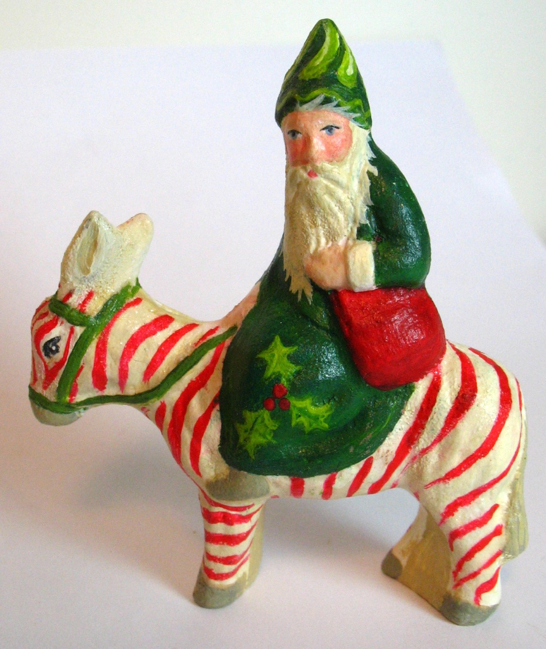 German Belsnickle Chalkware Santa