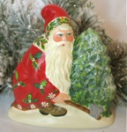 antique chocolate mold Chalkware Santa
