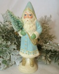 Chalkware German Santa from antique chocolate mold