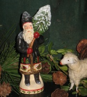 German chalkware Santa from antique chocolate mold