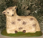 chalkware sheep from antique chocolate mold