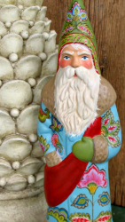 Chalkware Belsnickle Santa hand crafted from an antique chocolate mold
