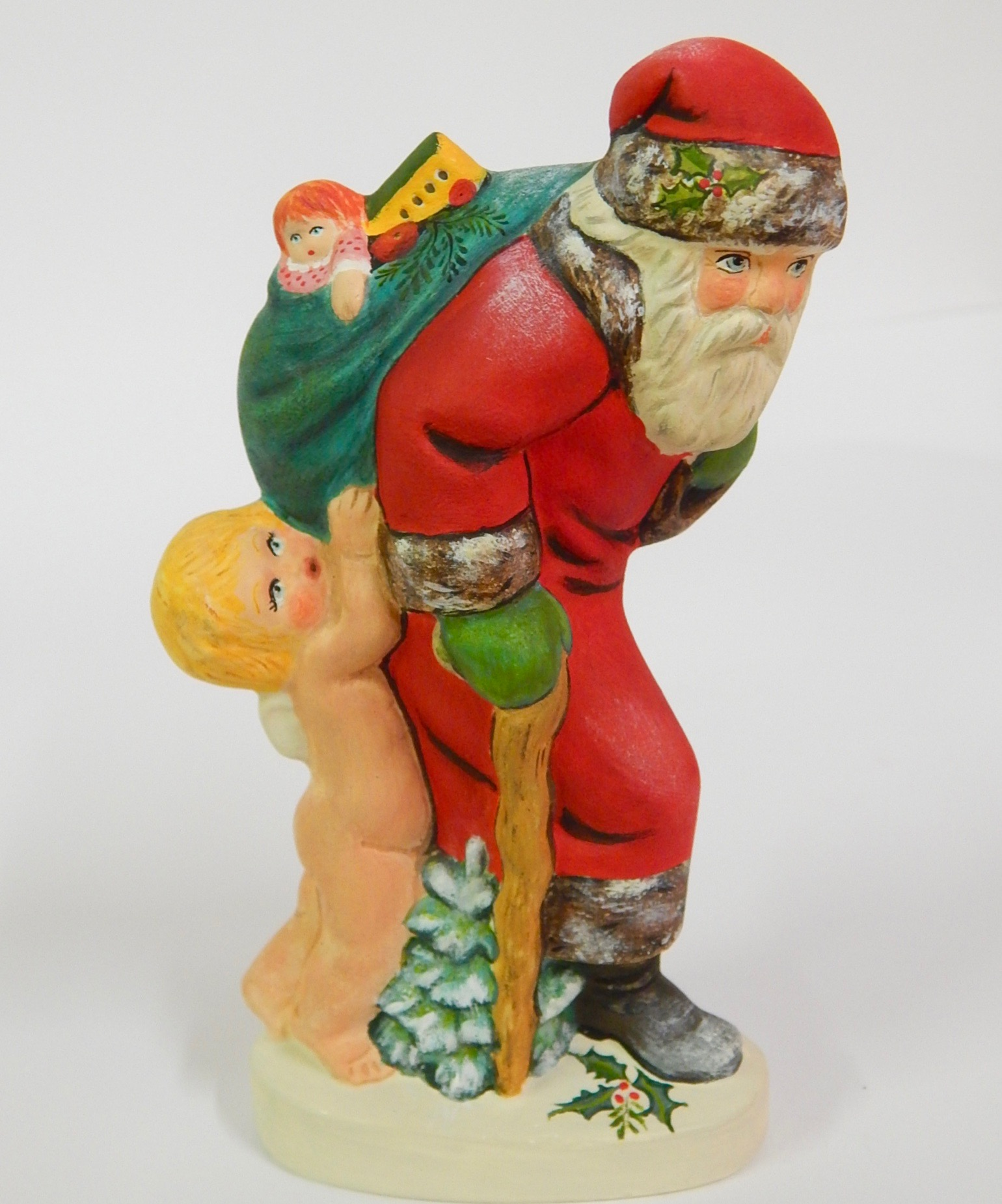 Chalkware Belsnickle Santa from Anton Reiche chocolate mold