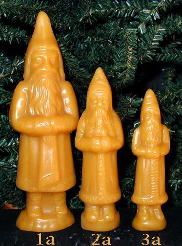 Bittersweet House Beeswax Santas