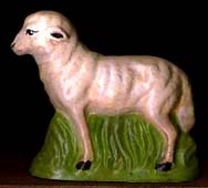 Chalkware Sheep from German Chocolate Mold BORDER=