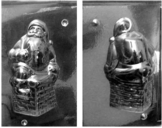 Santa in  chimney chocolate mold