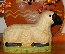 Bittersweet House (L207) Bittersweet House German Folk Art Sheep -Chalkware with handpainted
