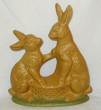 Bittersweet House Yelloware Rabbit Pair