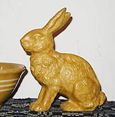 Bittersweet House Yelloware Large Sitting Rabbit